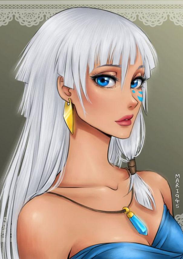 Drawn anime disney princess #10 Princesses As Characters Bored