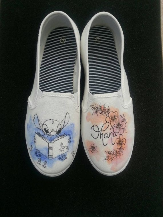 Drawn shoe diy Pinterest Made The Disney White