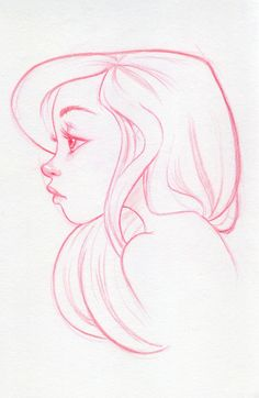 Drawn profile female face García by  ✤ REFERENCES