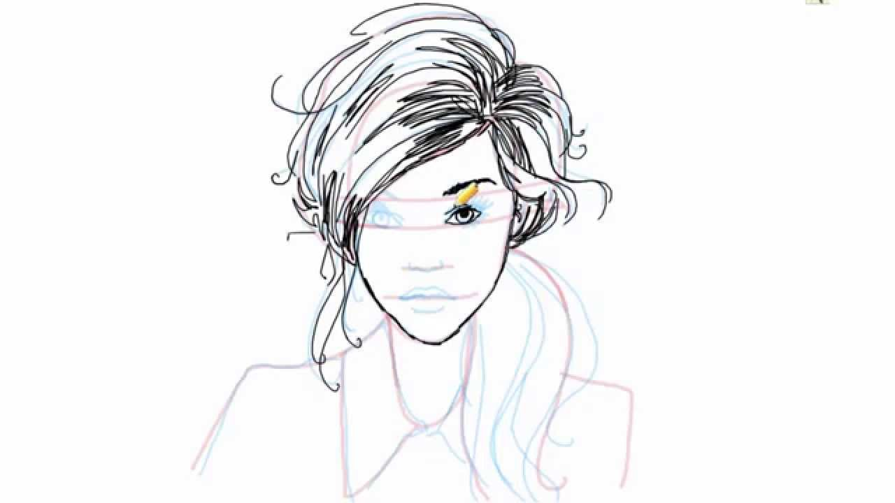 Drawn profile lady side face A How A Female How