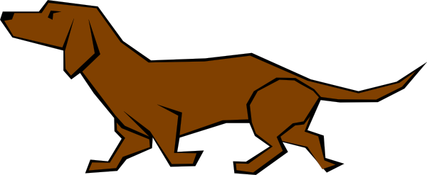 Drawn dog Clker at  image com
