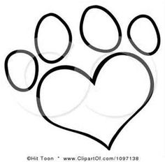 Drawn puppy paw print Clipart for logos  Paw