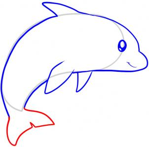 Drawn dolphins To for Hellokids Step draw