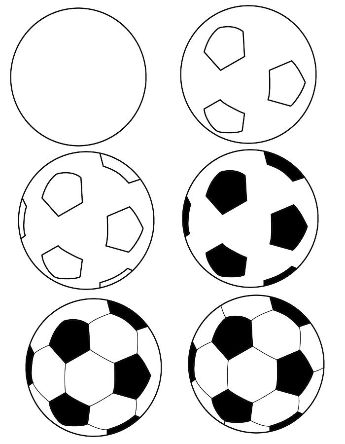 Drawn football amercian On drawing images draw ball