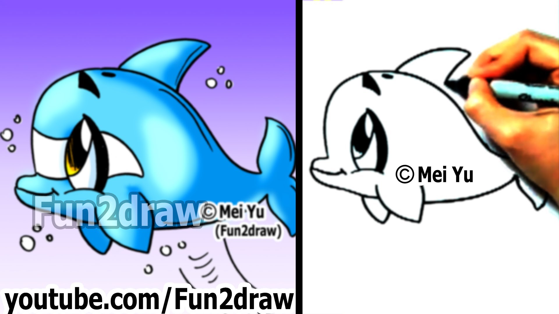 Drawn sea turtle fun2draw Dolphin in to in 2