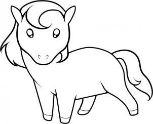 Drawn pony for kid Draw kids Hellokids com how