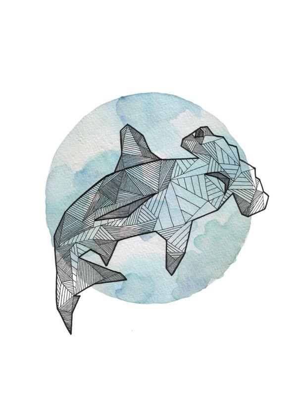 Drawn animal shark #10