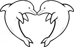 Drawn dolphins Tattoos love to Love how