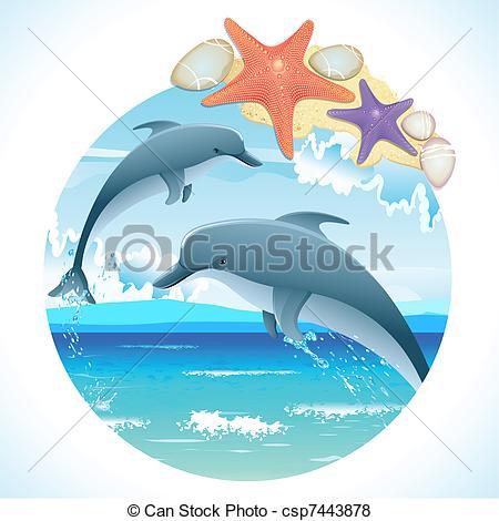 Bottlenose Dolphin clipart drawn #8