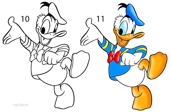 Drawn donald duck Duck by Draw Step to