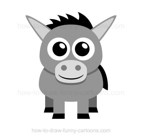 Drawn donkey A draw to draw How