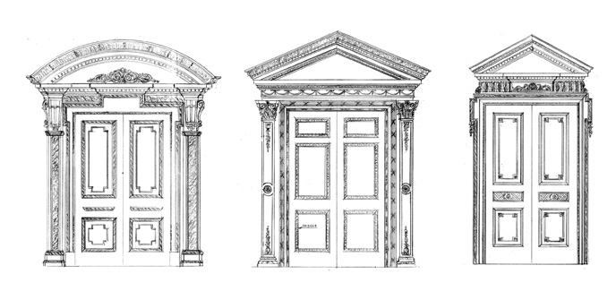 Drawn doorway 558 from scaled layout 800