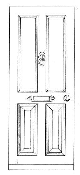 Drawn door Drawing 2 Door Drawing New