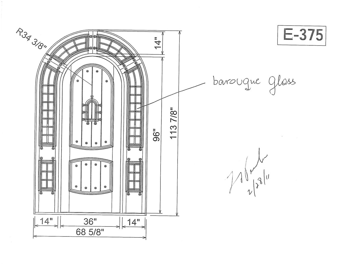 Drawn doorway Drawing Front Drawing Custom Door