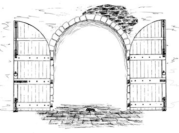 Drawn doorway Hand Search open Doors\u0026EntrywaysArt/ill +