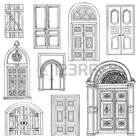 Drawn doorway De Collection de drawn ancienne: