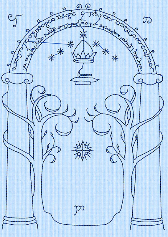 Drawn doorway Rings Door Moria Machine the