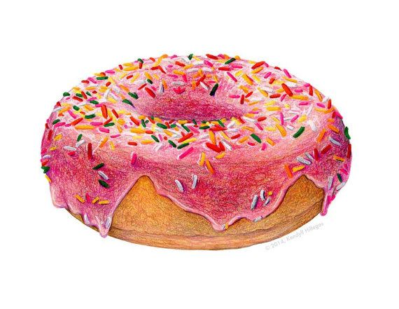 Drawn dougnut 217 Donuts illustrations sprinkle Pinterest