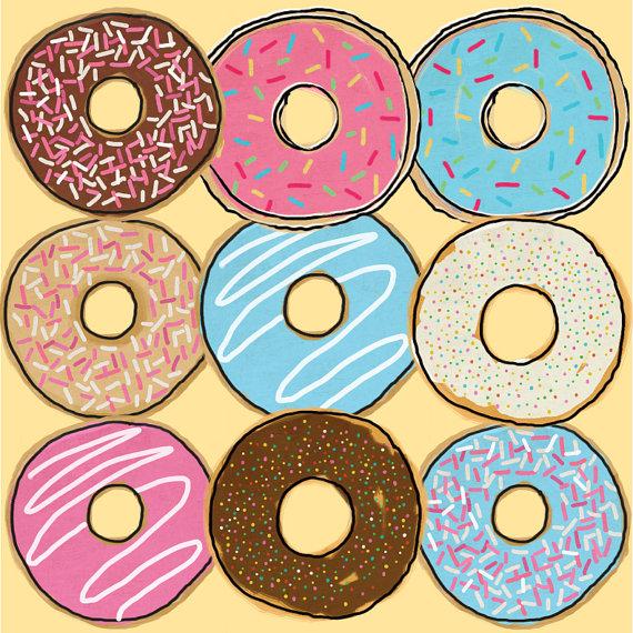 Drawn doughnut Art Donut art Donut Donut