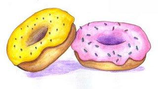 Drawn doughnut Drawing came  shells front