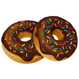 Drawn doughnut Donuts PixelKit Donuts Icon Bites