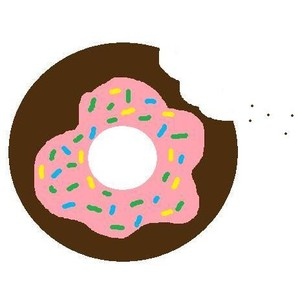 Drawn doughnut Drawn 100 eaten donut Polyvore