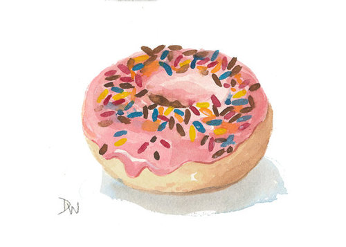 Drawn dougnut Drawing donut illustration and for