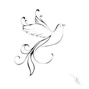 Drawn dove Dove Best ideas Dove drawing