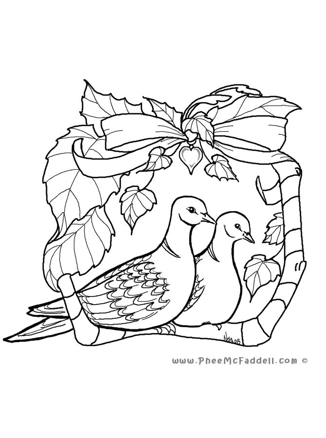 Turtle Dove clipart printable #3