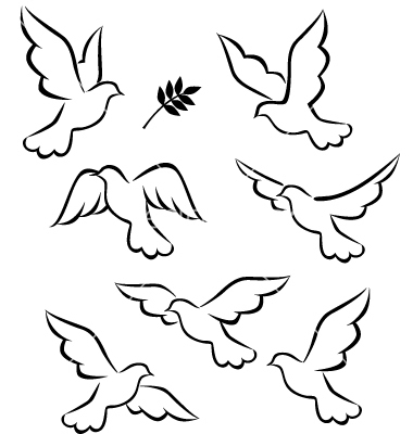 Peace Dove clipart aphrodite Silhouette Dove Flying on Skin