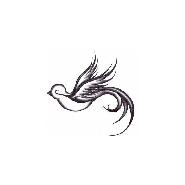 Drawn swallow Bird Ideas Polyvore Tattoo tattoo