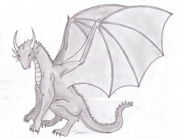 Drawn dragon Drawn DeviantArt LamentsRose Dragon by