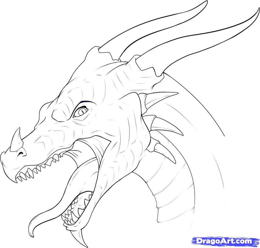 Drawn dragon Step a jpg to step