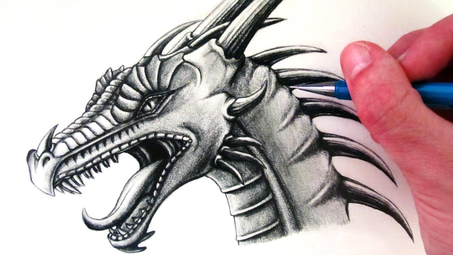 Drawn snake dragon A Draw Head How