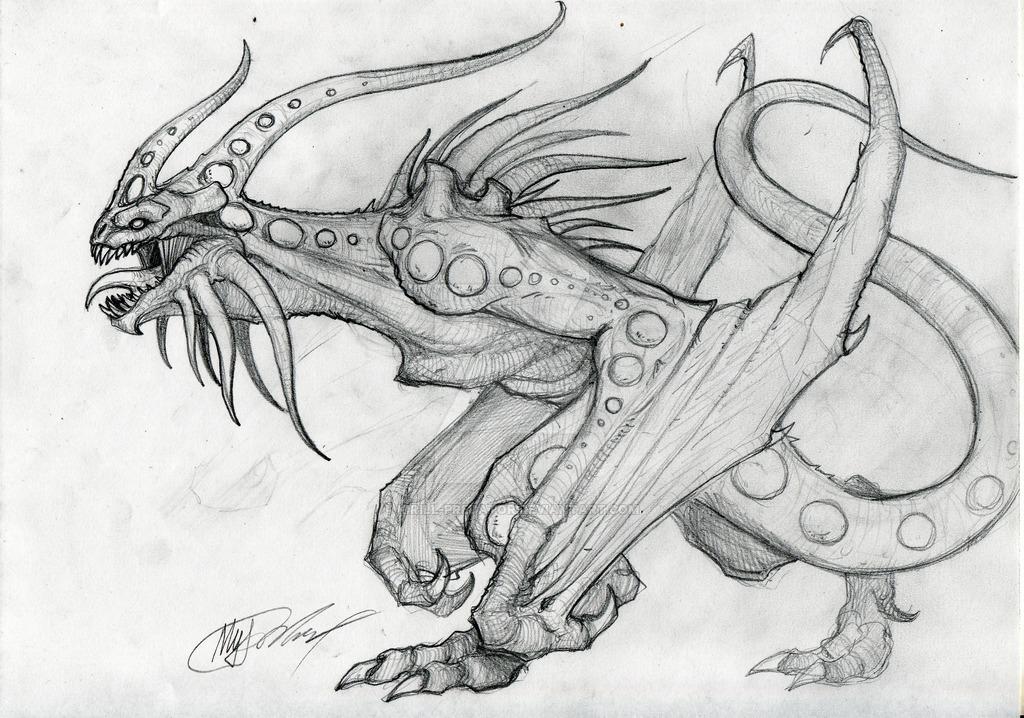 Drawn predator shadow dragon On by KIRILL dragon sketch
