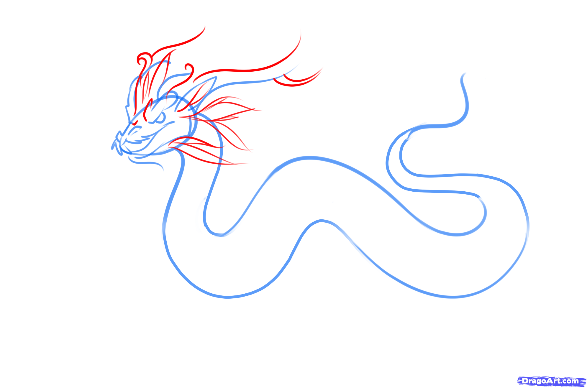 Drawn chinese dragon awesome A Chinese 3 a how
