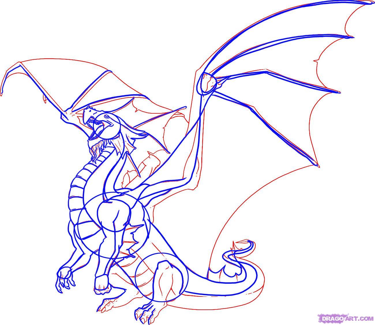 Drawn chinese dragon wing #2