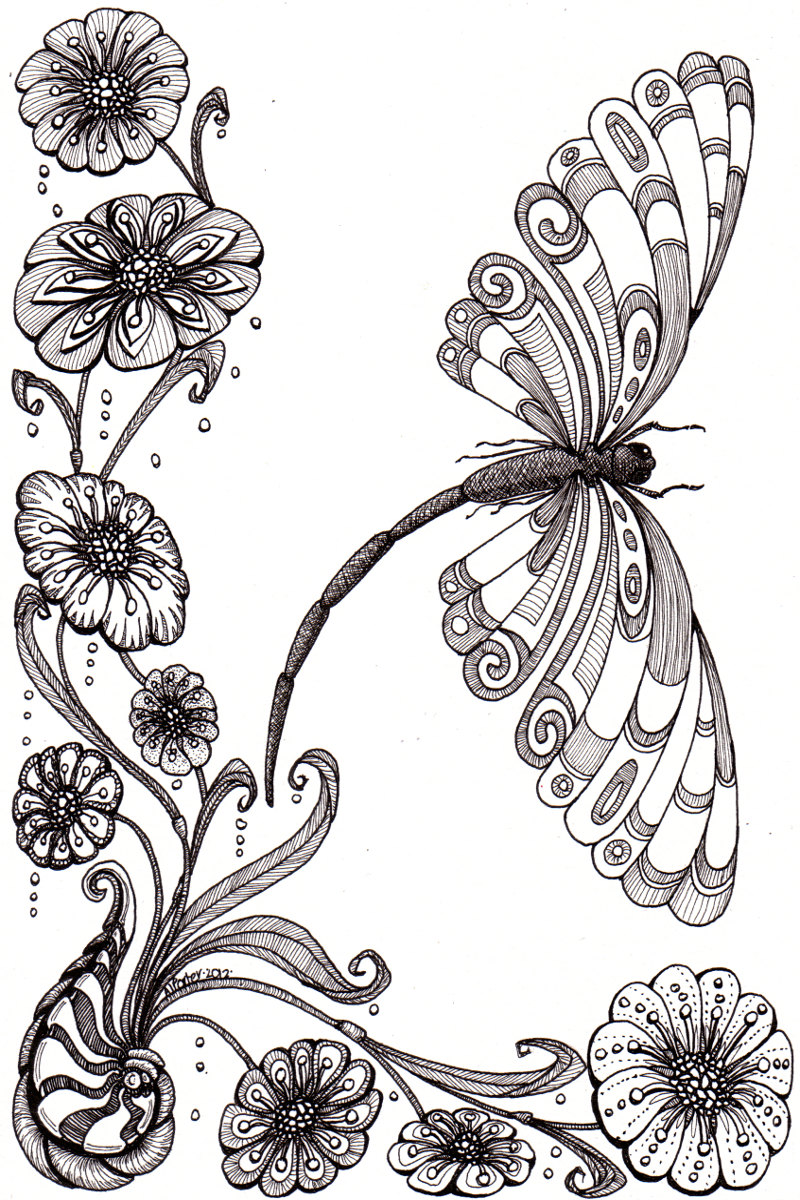 Drawn plant mexican flower Beautiful abstract illustration whimsical shell
