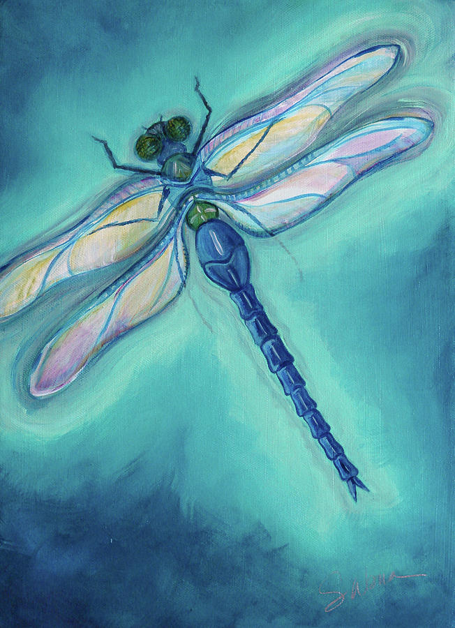 Drawn samurai dragonfly Painting and prints Dragonfly art
