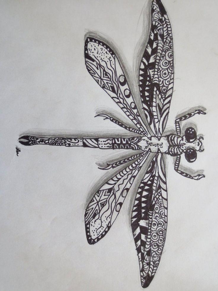Drawn samurai dragonfly ~luzilla best Pinterest Dragonfly on