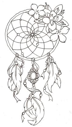 Drawn dreamcatcher Dream tattoo dream hand illustration