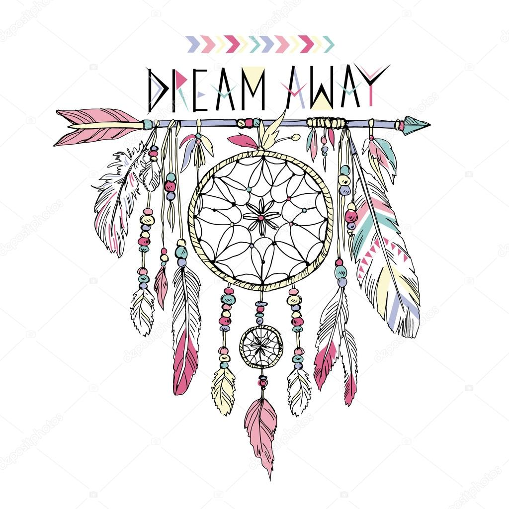 Drawn dreamcatcher Stock Hand dream #68967667 catcher