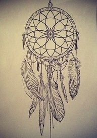 Drawn dreamcatcher #tattoo #sketch catcher The best