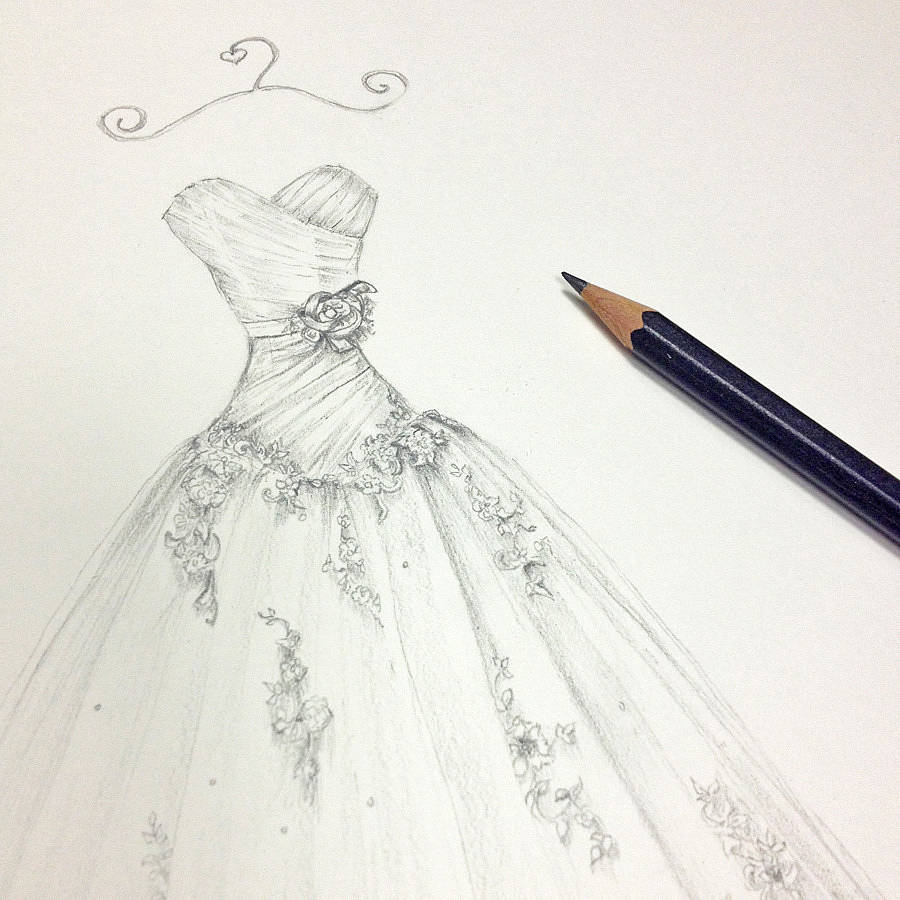 Drawn wedding dress #10