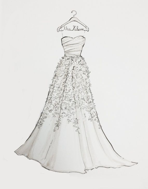 Drawn wedding dress #4
