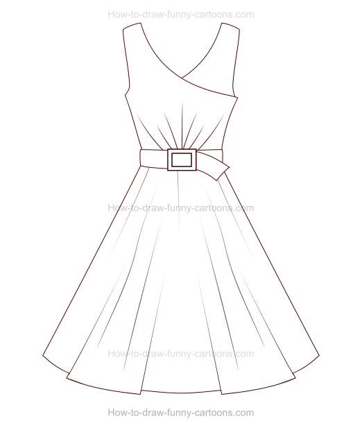 Drawn dress To How Draw Cartoon A
