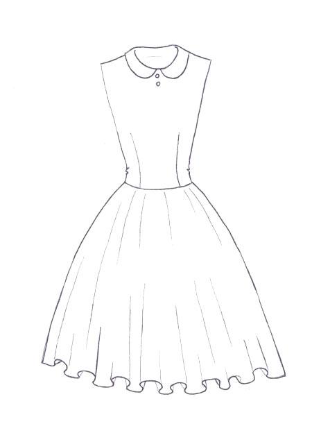 Drawn dress To print How floral Fashion