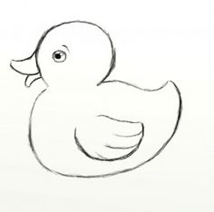 Drawn duckling A Art rubber and to