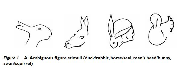 Drawn rabbit the duck Or were Psychologists images to