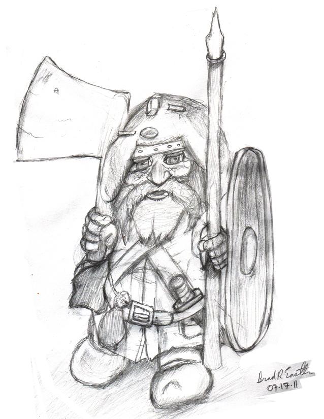 Drawn dwarf Drawing Drawing Realistic Art Dwarf